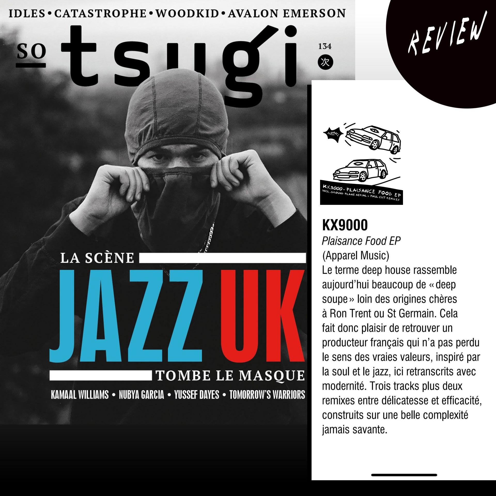 Tsugi Mag review 'KX9000 - Plaisance Food EP'